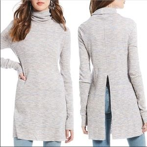 Free People Stone Cold Turtleneck Top Ivory NWOT